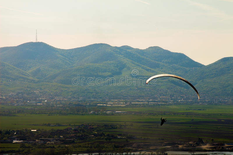Sky gliding stock image