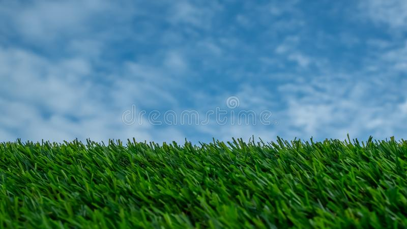 Sky and  grass for background stock photography
