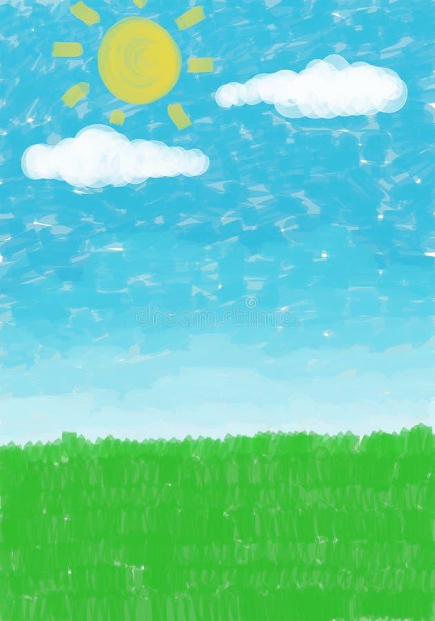 Sky grass background royalty free illustration