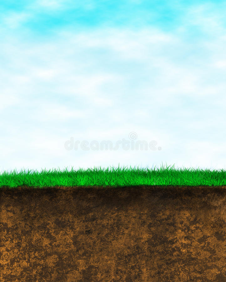 Free Sky Grass Earth Background Royalty Free Stock Photography - 23529067