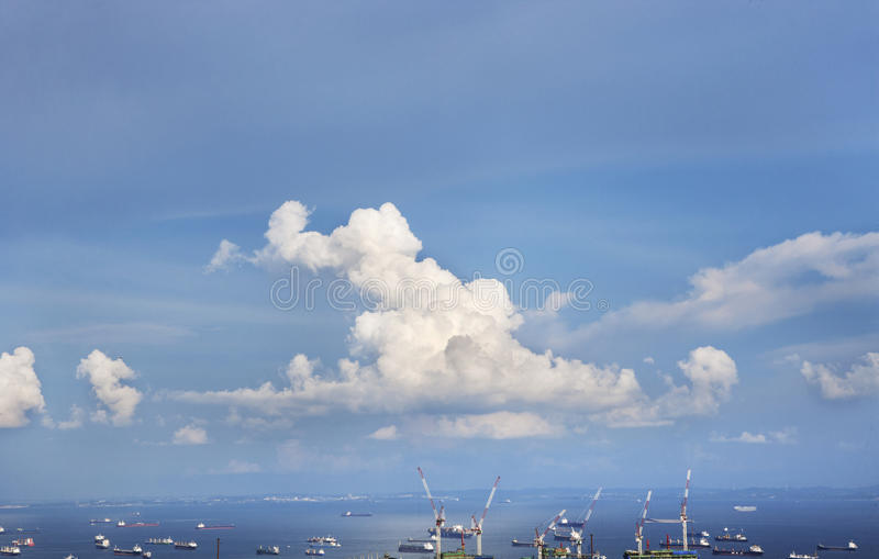 Sky and Habour. This images was shot in the nice afternoon sun with a beauiful cloud royalty free stock photography