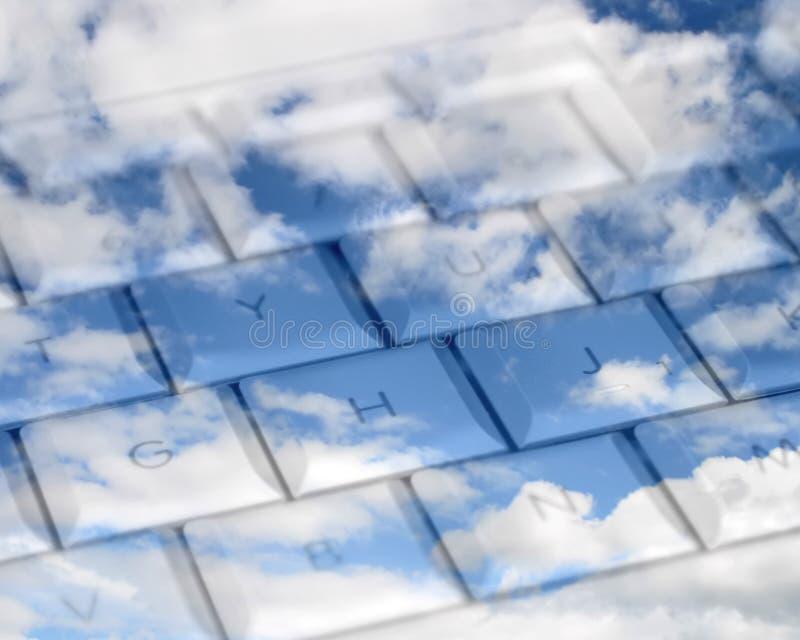 Sky high computing vector illustration