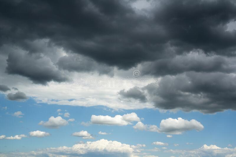 Sky with high contrast royalty free stock photos