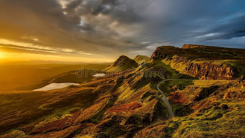 Sky, Highland, Dawn, Rock royalty free stock photo