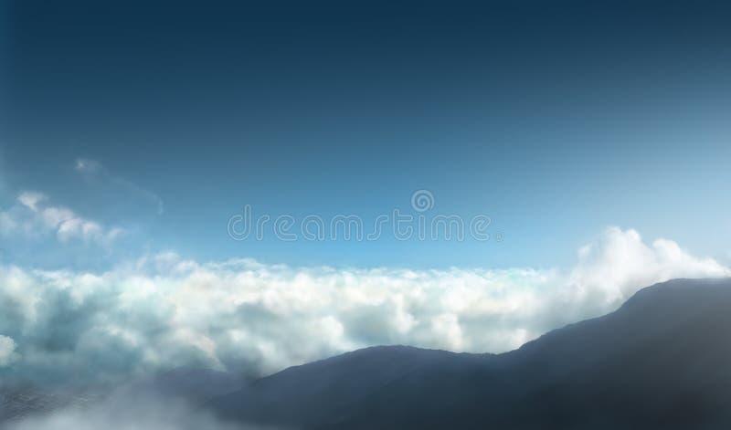 Download Sky horizon stock illustration. Image of plain, silence - 17745653