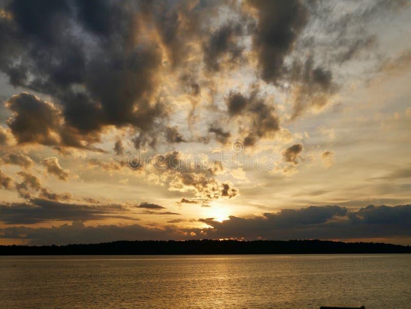 Sky, Horizon, Sunset, Cloud royalty free stock photos