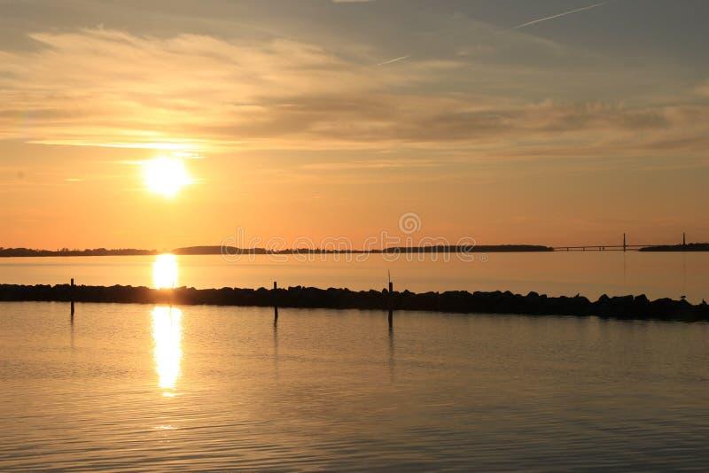 Sky, Horizon, Sunset, Reflection royalty free stock image
