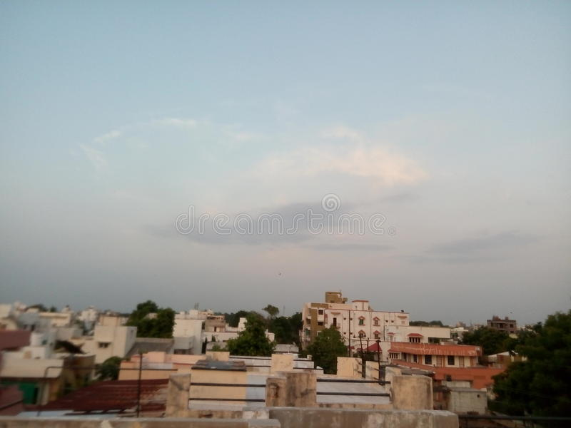 Sky of indore stock photography