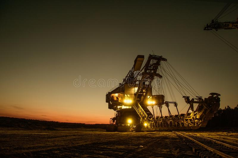 Sky, Industry, Night, Evening royalty free stock photos