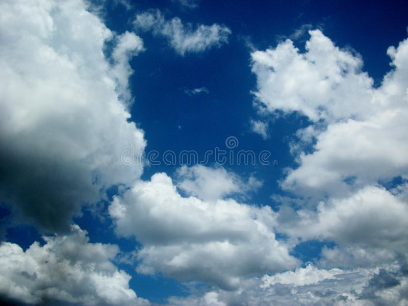 Sky amazing. Sky with an intense blue color taken at 9:30 o`clock in Venezuela stock images