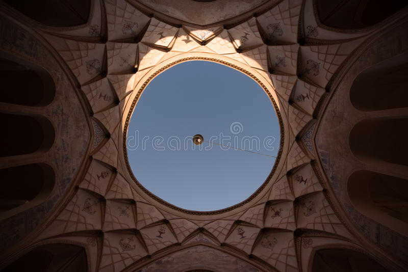The sky from an iranian house royalty free stock photos