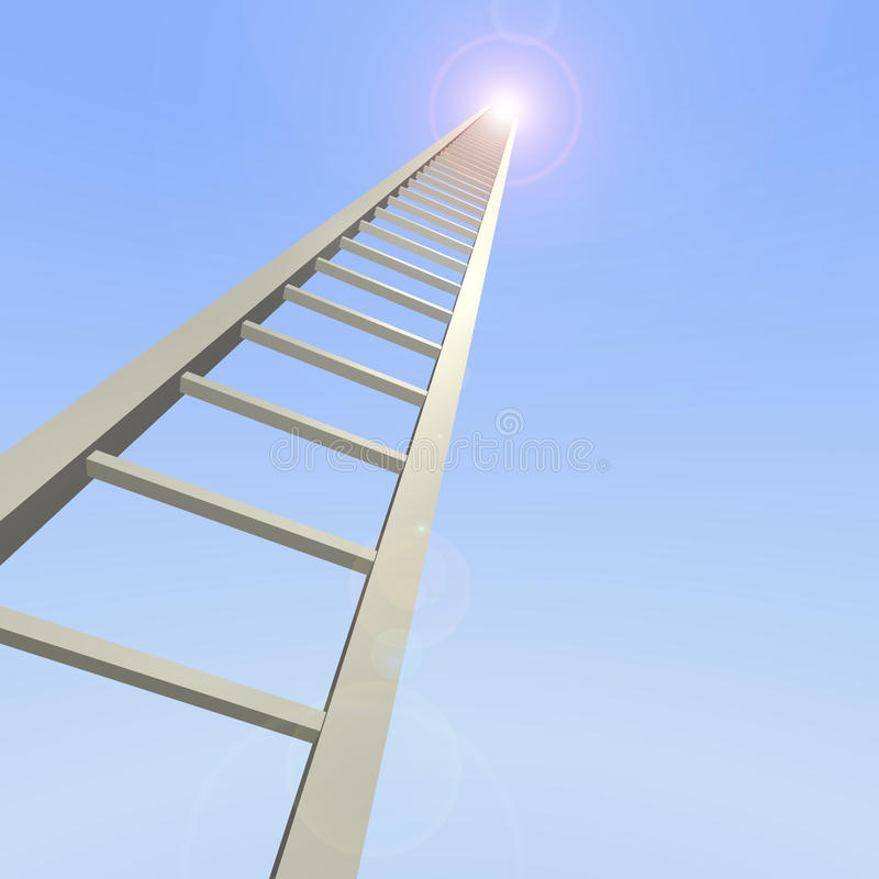 Download Sky Ladder stock illustration. Image of corporate, lens - 12808671