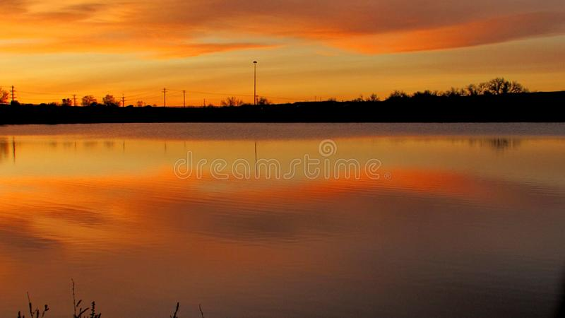 Sky lake royalty free stock photography