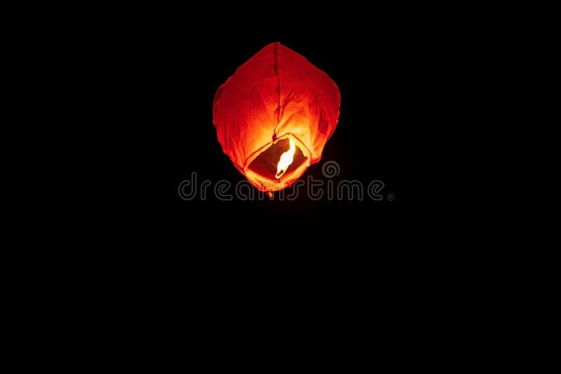 Sky Lantern For Background & Graphic Resources royalty free stock photos