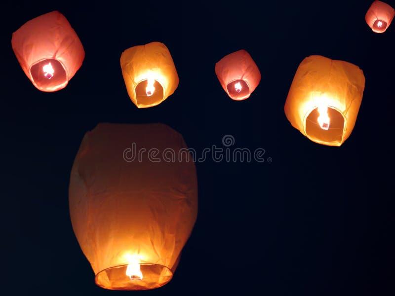 Download Sky Lanterns stock image. Image of lantern, festive, light - 27677501
