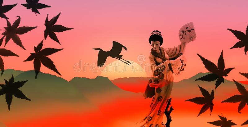 Sky, Leaf, Orange, Silhouette stock photo