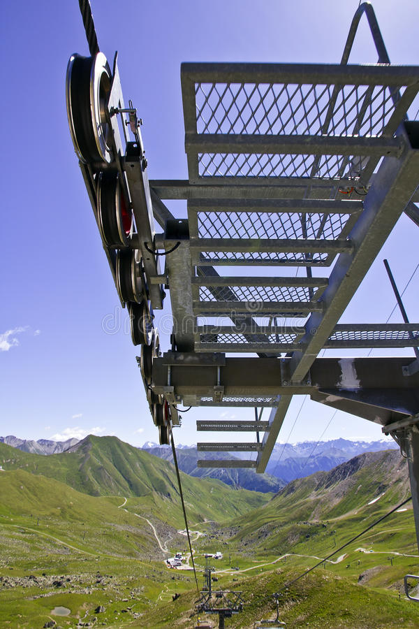 Sky Lift Cable Trail stock photos