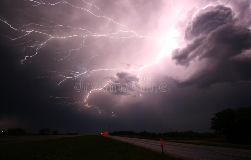 Sky, Lightning, Thunder, Cloud royalty free stock photos