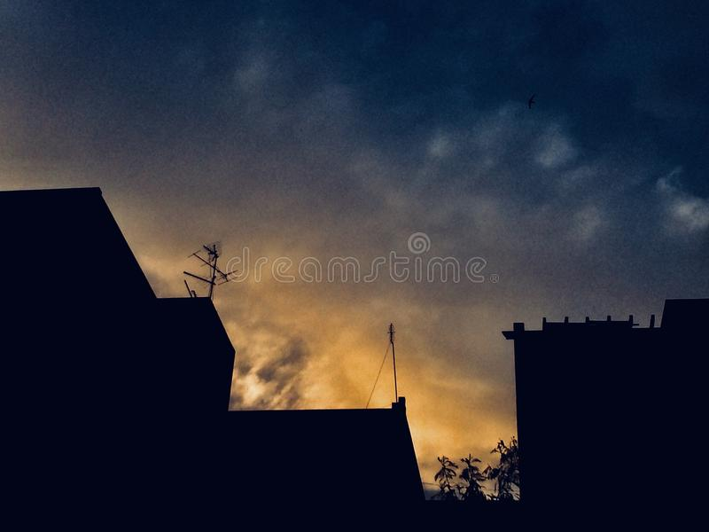 Sky lights stock photo