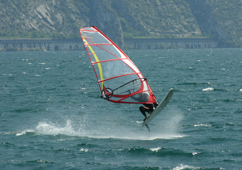 Download The Sky Is The Limit! stock photo. Image of italy, windsurfing - 184702