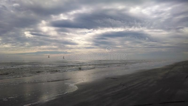 Sky line on the Beach. North Padre Island stock photography