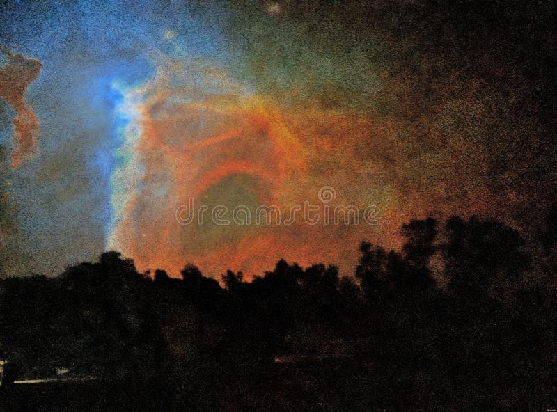 Sky in Low Light royalty free stock photos
