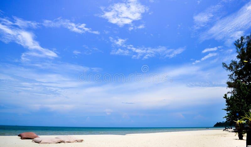 Summer blue sky sea coast sand background beach stock photography