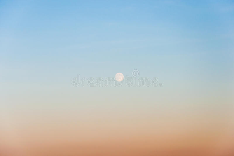 Sky and Moon royalty free stock photo