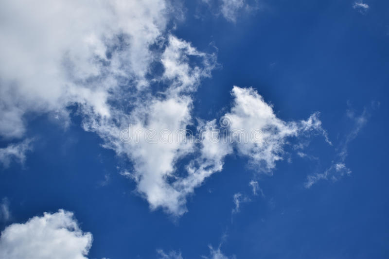 The sky in the mostly cloudy day. royalty free stock photos