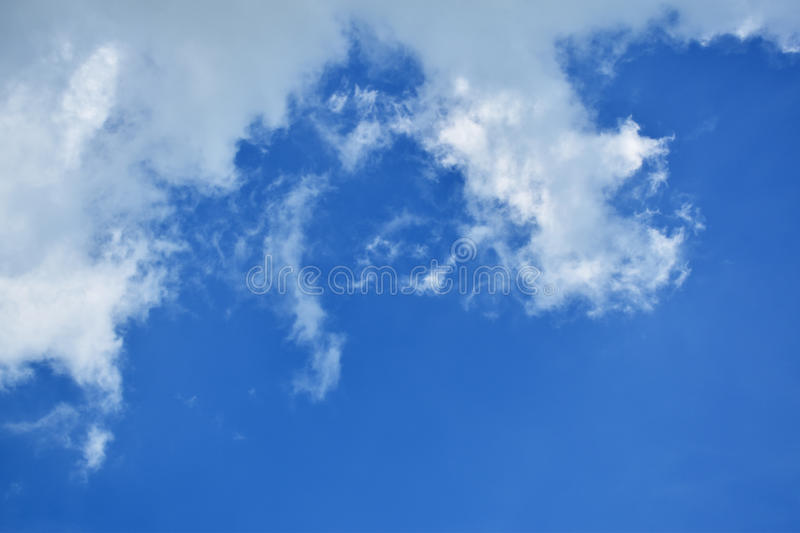 The sky in the mostly cloudy day. royalty free stock photo