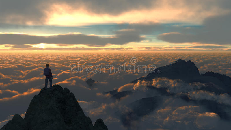 Sky Mountain C1 royalty free stock photos