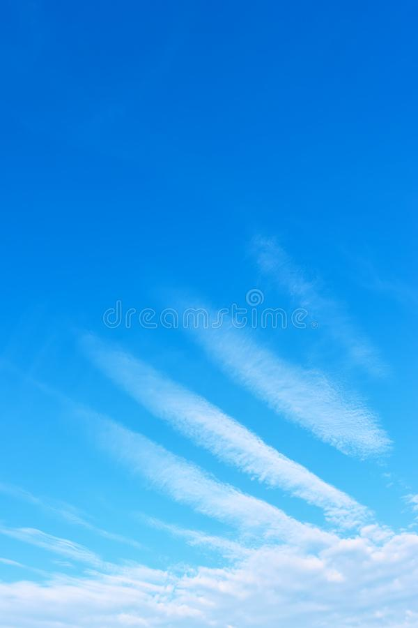 Sky with mystic fancy clouds royalty free stock photography