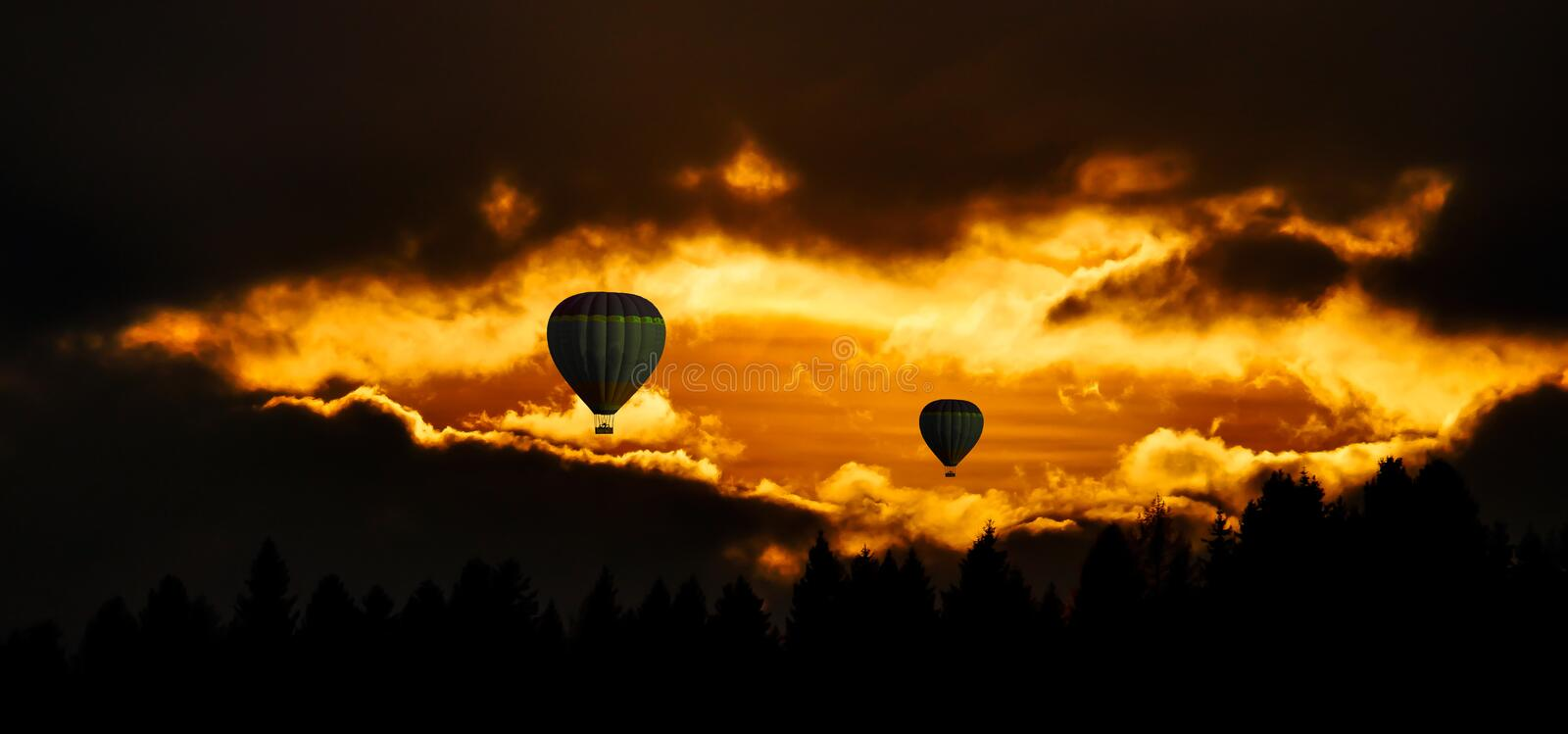 Sky, Nature, Hot Air Ballooning, Atmosphere royalty free stock photo