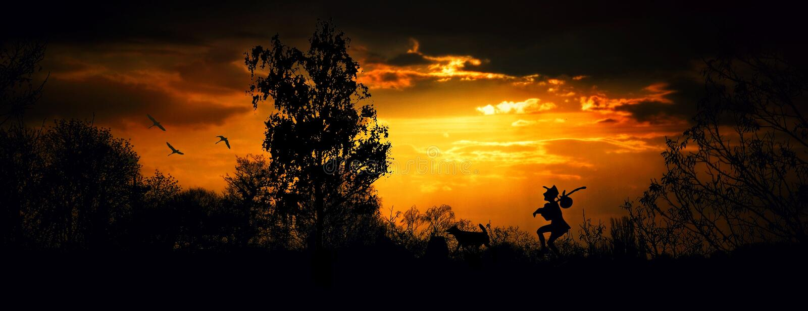 Sky, Nature, Sunset, Sun royalty free stock images