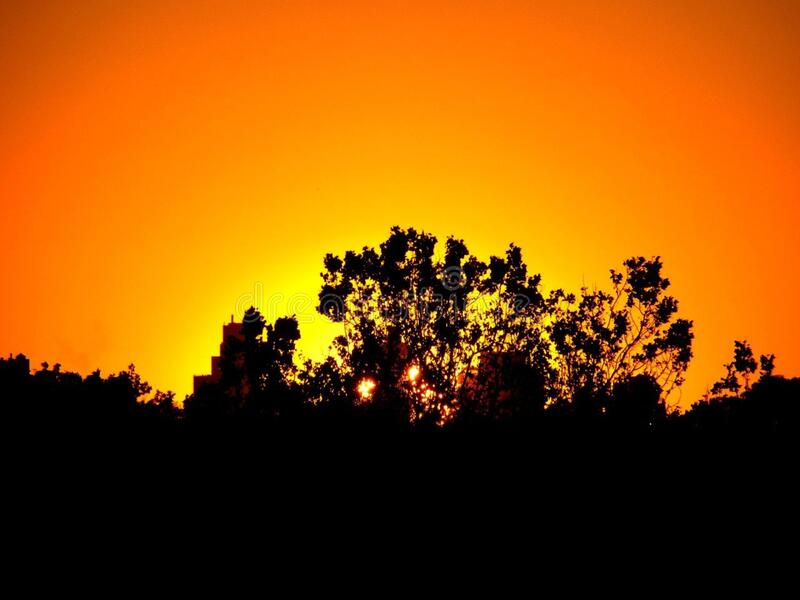 Sky, Nature, Yellow, Sunset stock photography