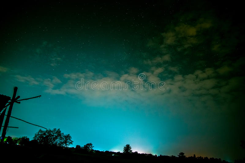 Sky at night blue royalty free stock photography