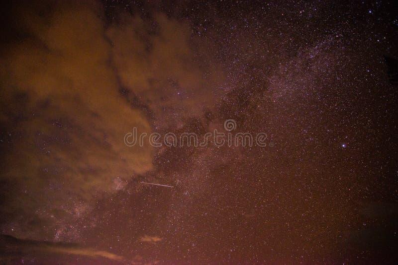 Sky at night stock photography