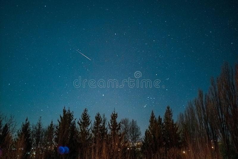 Sky. Night sky star royalty free stock photo