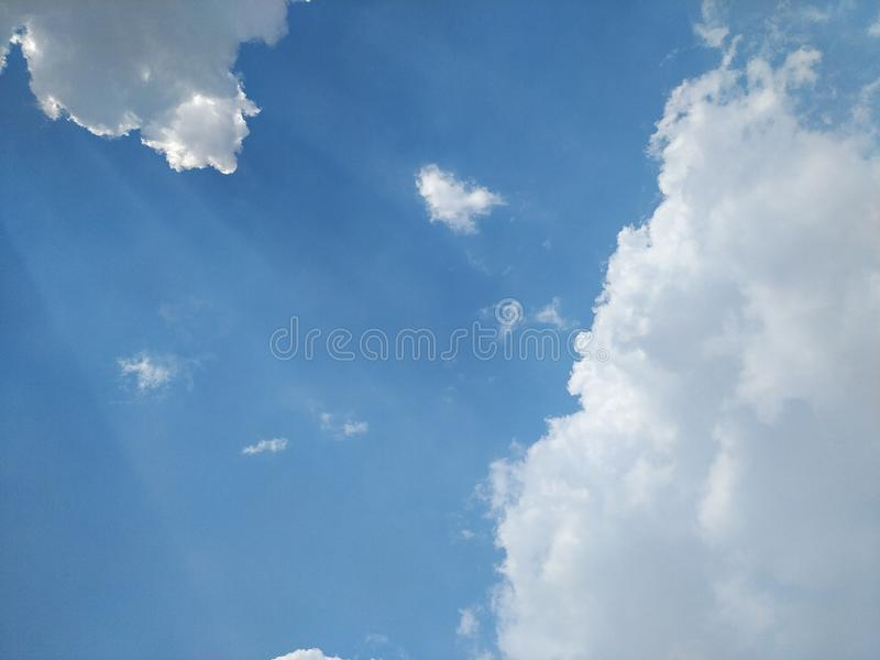 Sky at noon Light from the sun And beautiful clouds. When Sky at noon Light from the sun And beautiful clouds royalty free stock photos