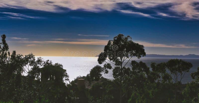 Sky ocean crystal Cove Newport Beach California royalty free stock image