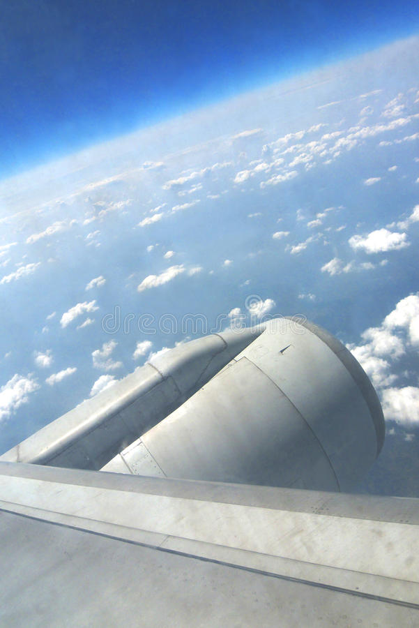 Download Sky outside airplane stock image. Image of blue, tall - 9395905