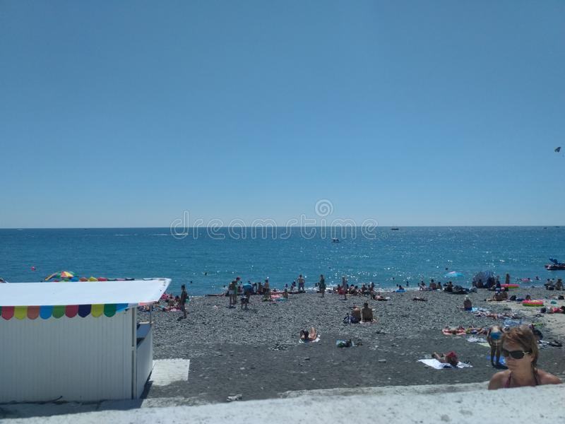 The sky over the Black Sea stock photography