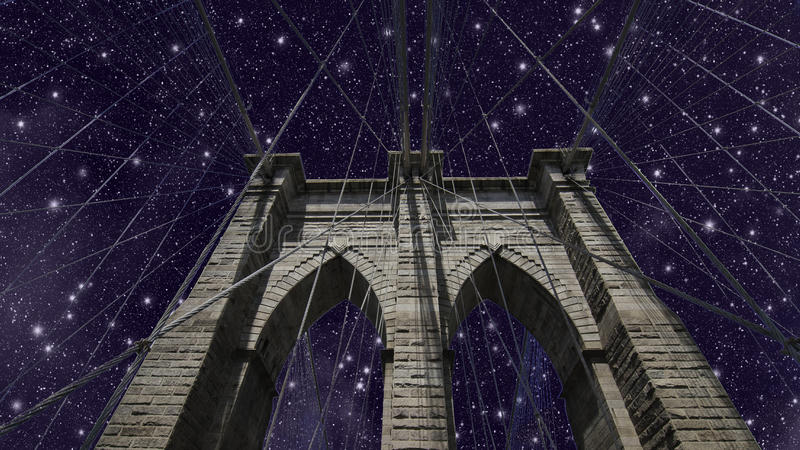 Download Sky over Brooklyn Bridge stock image. Image of famous - 20311291