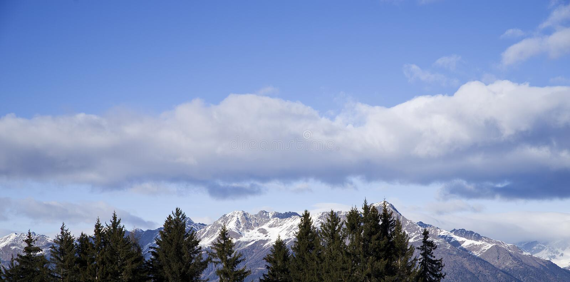 Sky over italian Alps royalty free stock photos
