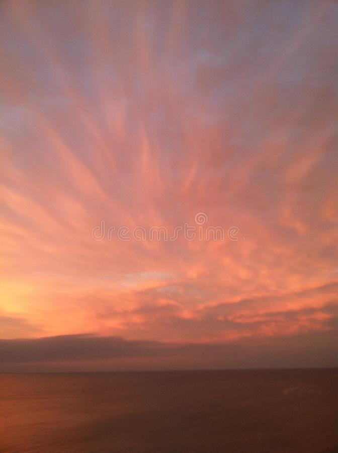 Sky over lake erie royalty free stock photos