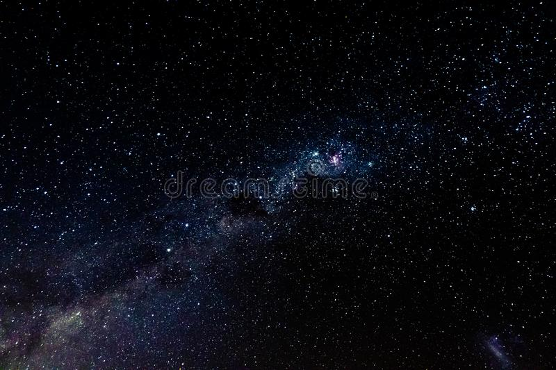 Sky photo of milky way and galaxy. royalty free stock photo