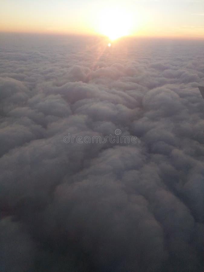 Sky pic of cloud Rising Sun. Rising sun in Cloud stock photo