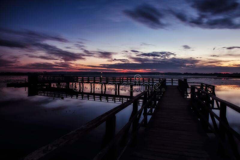 Sky, Pier, Horizon, Water stock photography