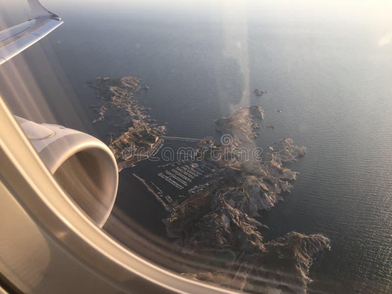 The sky plain fly sun sea Marseille France Provence royalty free stock photography