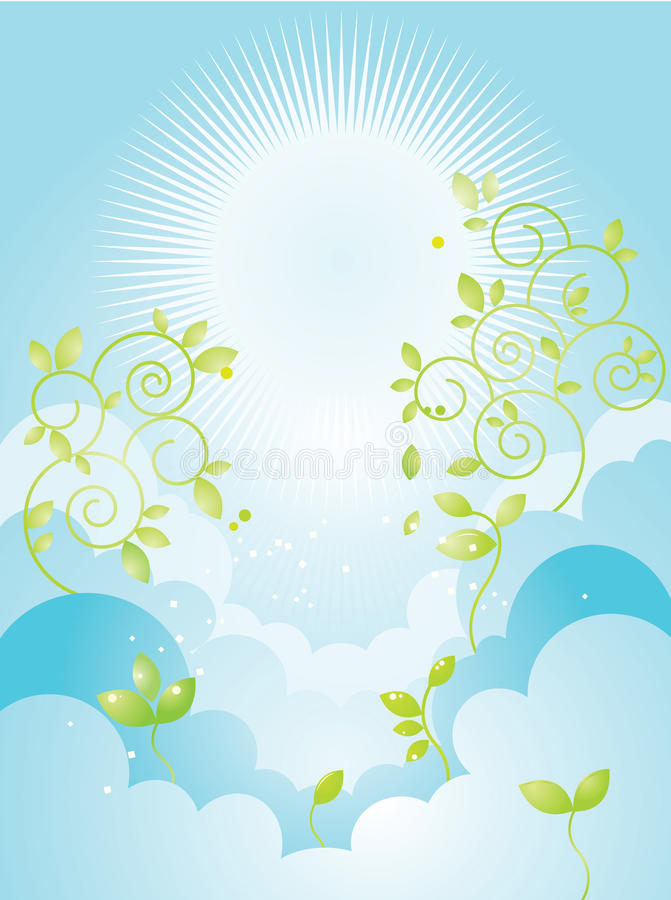 Download Sky and plants stock vector. Image of illustration, decorative - 11686633